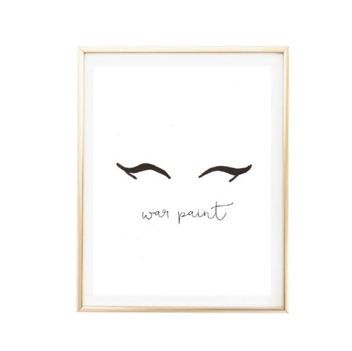 Printable 8X10 War Paint Eyeliner Makeup Print Typographic Print Intended For Tumblr Wall Art (Image 10 of 20)
