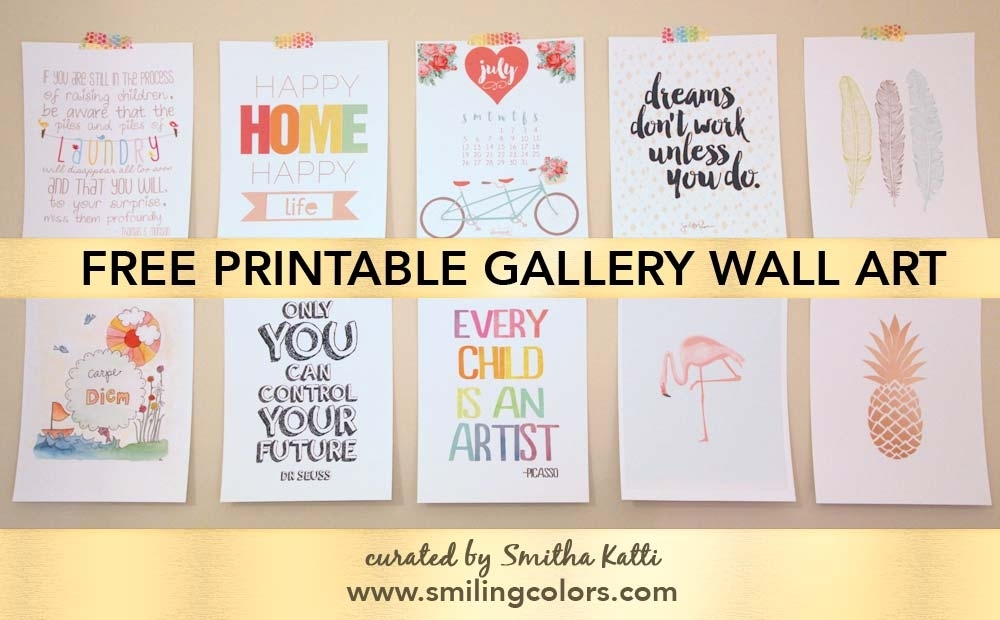 Printable Gallery Wall Art That Will Make Your Room Look New Inside Free Printable Wall Art (View 9 of 20)