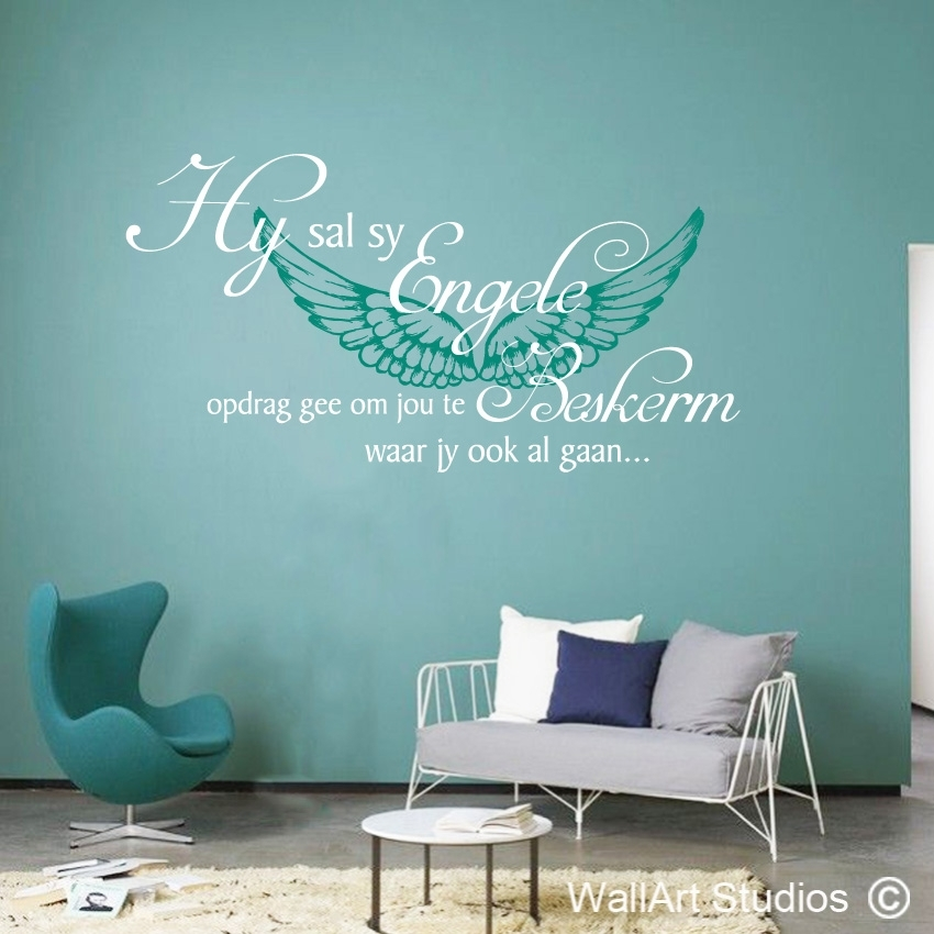 Psalm 91:11 Engele | Vinyl Wall Stickers | Wall Art Studios Sa For Wall Art Decals (View 4 of 10)