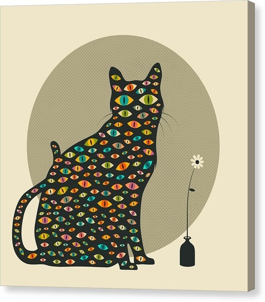 Psychedelic Cat Canvas Prints | Fine Art America Inside Cat Canvas Wall Art (Image 18 of 25)