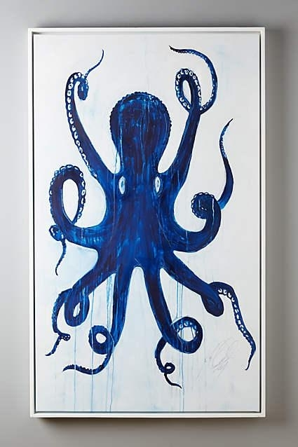 Pulpo Blue Wall Art Throughout Octopus Wall Art (View 1 of 20)