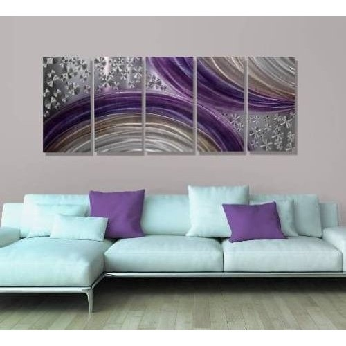 Purple And Grey Wall Art – Arsmart With Purple And Grey Wall Art (View 10 of 25)