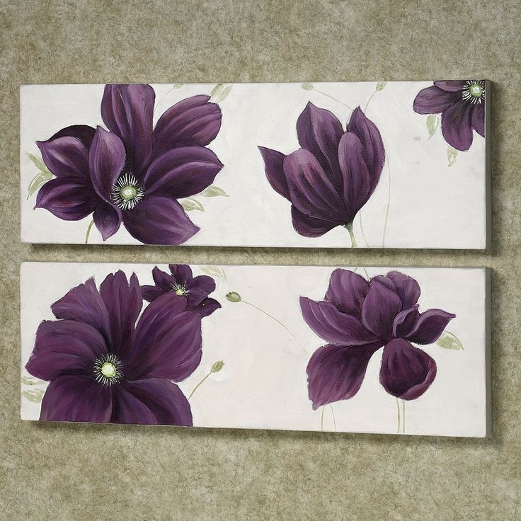 Purple Bedroom Decor Purple And Grey Wall Art Purple Wall Canvas For Purple And Grey Wall Art (Image 18 of 25)