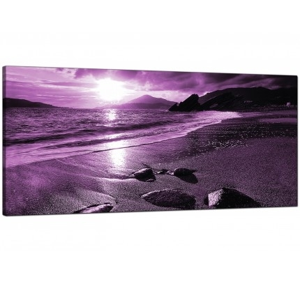 Purple Canvas Pictures Prints & Wall Art – Free Delivery Throughout Purple And Grey Wall Art (Image 19 of 25)