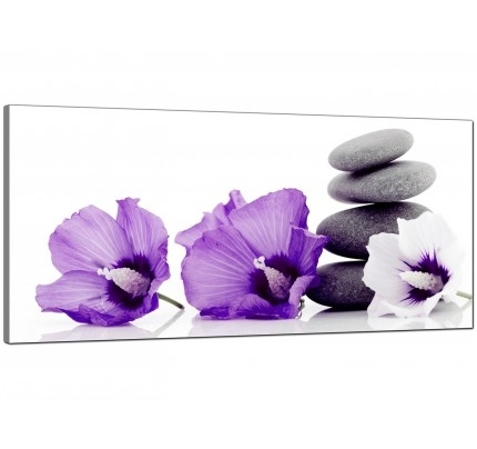 Purple Canvas Pictures Prints & Wall Art – Free Delivery With Purple And Grey Wall Art (Image 20 of 25)