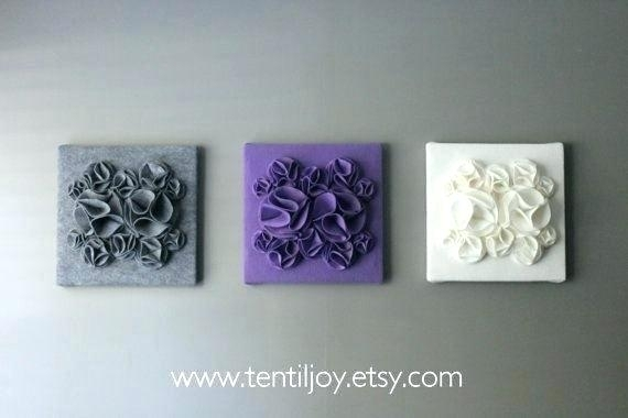 Purple Wall Art For Bathroom Purple Flower Wall Art Modern Black With Regard To Purple And Grey Wall Art (View 8 of 25)