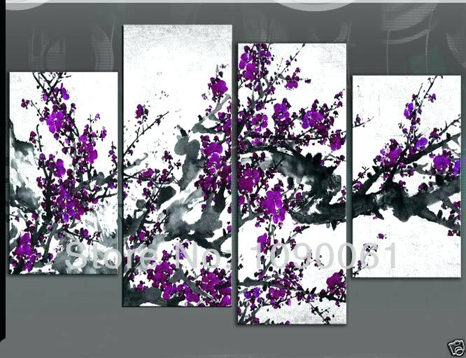 Purple Wall Decor – Beyondmeditation Throughout Purple And Grey Wall Art (View 15 of 25)