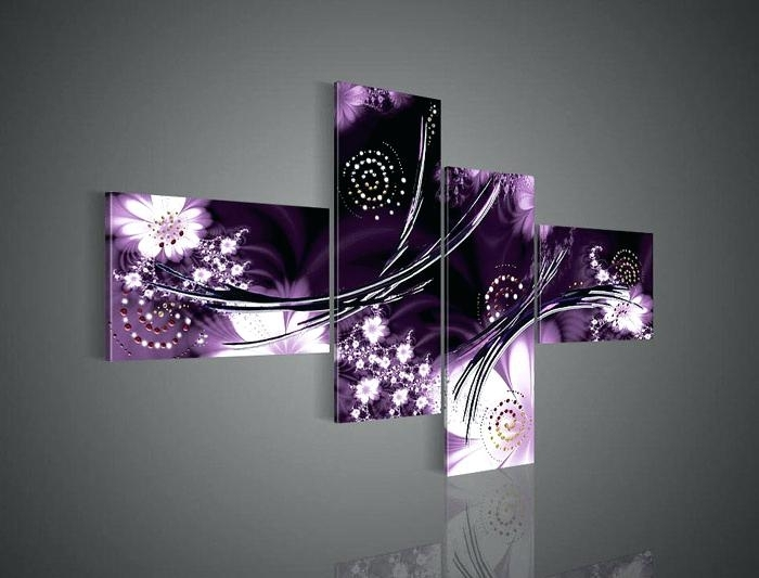 Purple Wall Decor Purple Wall Decor Best Purple Wall Art Ideas On Regarding Purple And Grey Wall Art (View 25 of 25)