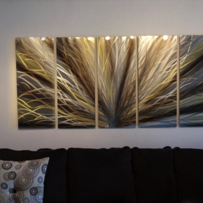 Radiance Large, Gold & Bronze Metal Wall Art Contemporary Modern Regarding Black And Gold Wall Art (View 7 of 25)