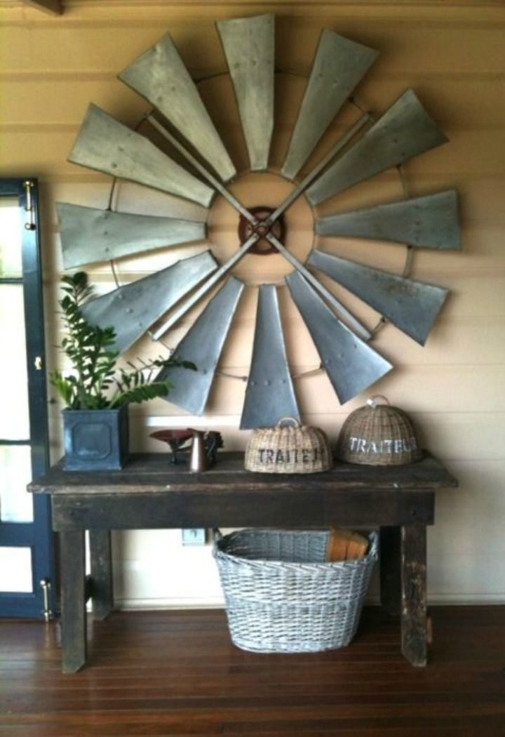 Re Purposed Windmill As Wall Art | Farm House | Pinterest | Windmill Throughout Windmill Wall Art (Image 12 of 20)