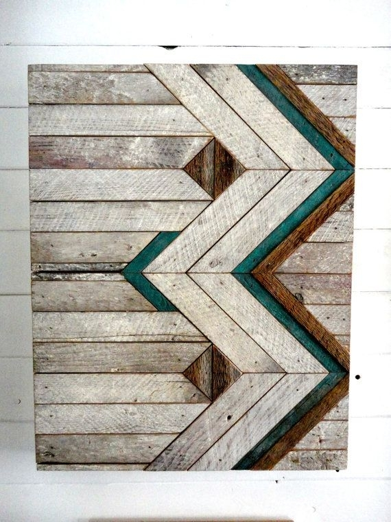 Reclaimed Wood Chevron Wall Hangingstone Hill Millwork Co On Within Chevron Wall Art (View 20 of 25)