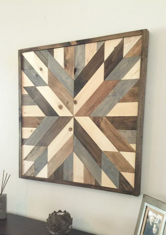 Reclaimed Wood Wall Art, Wood Art, Rustic Wall Decor, Farmhouse Within Art Wall Decors (View 4 of 25)
