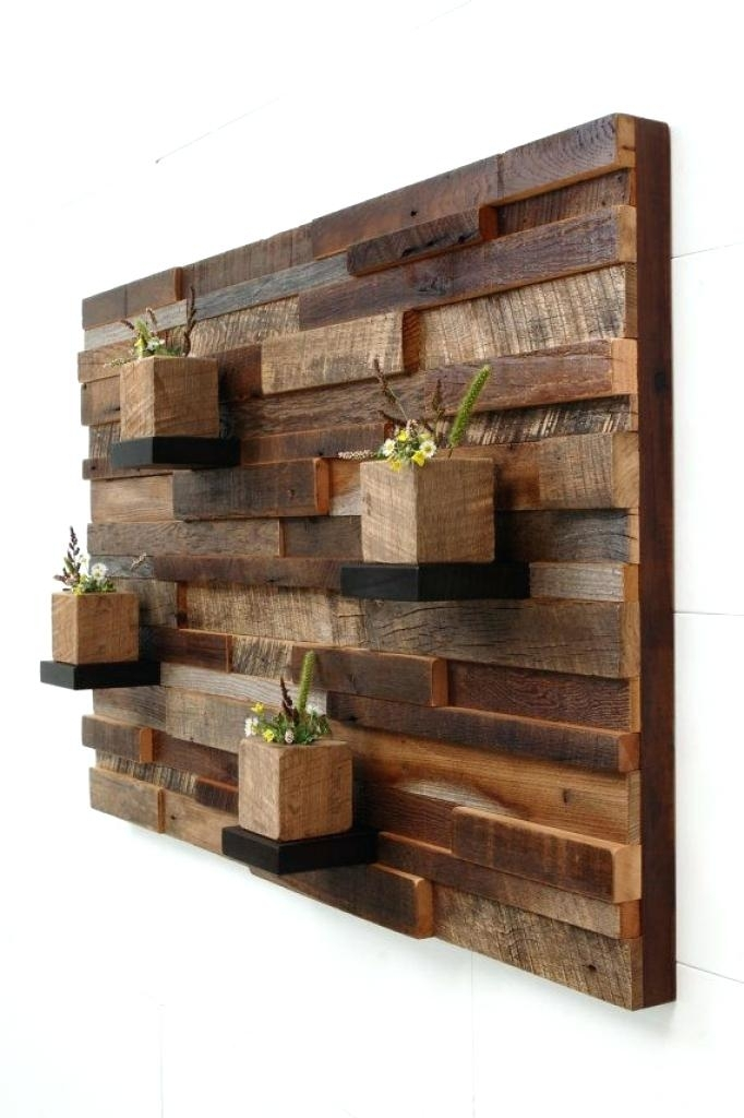 Reclaimed Wood Wall Decor Barn Wood Wall Art Reclaimed Wood Wall Art Inside Wooden Wall Art (Image 5 of 10)