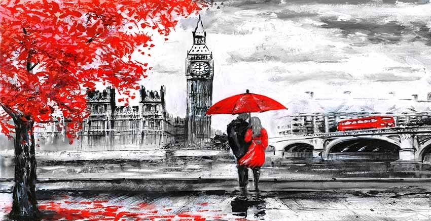 Red Art – Canvas Art Gallery Regarding London Wall Art (View 11 of 25)