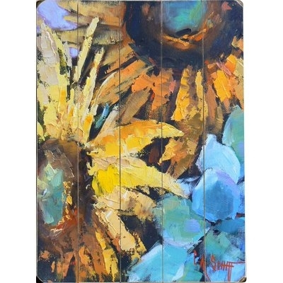 Red Barrel Studio Painted Sunflowers Wall Art & Reviews | Wayfair Intended For Sunflower Wall Art (Image 10 of 25)