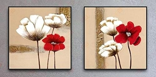 Red Canvas Art Wall Art Beautiful Images About Red Flower Canvas Throughout Floral Canvas Wall Art (View 19 of 25)