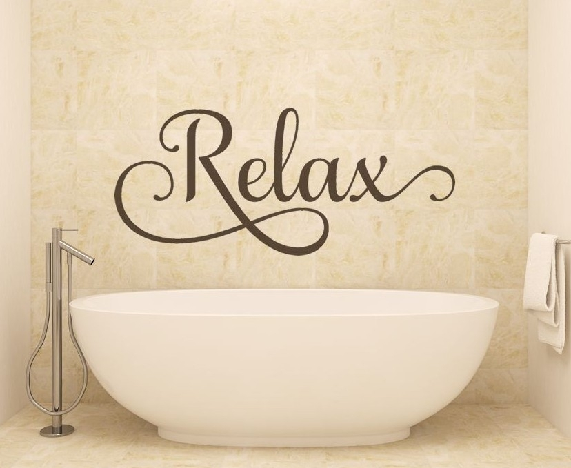 Relax - Decorative Wall Decals Removable - throughout Relax Wall Art