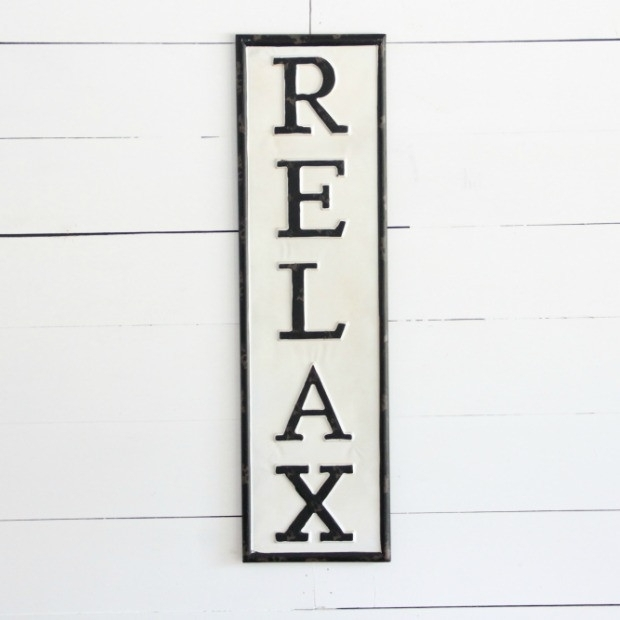 Relax Metal Wall Art | Antique Farmhouse Intended For Relax Wall Art (Image 9 of 20)
