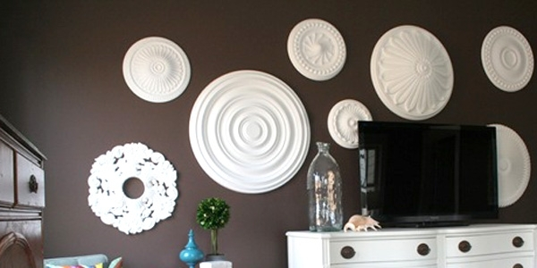 Remodelaholic | Ceiling Medallion Wall Art For Bedroom Makeover With Ceiling Medallion Wall Art (View 7 of 10)