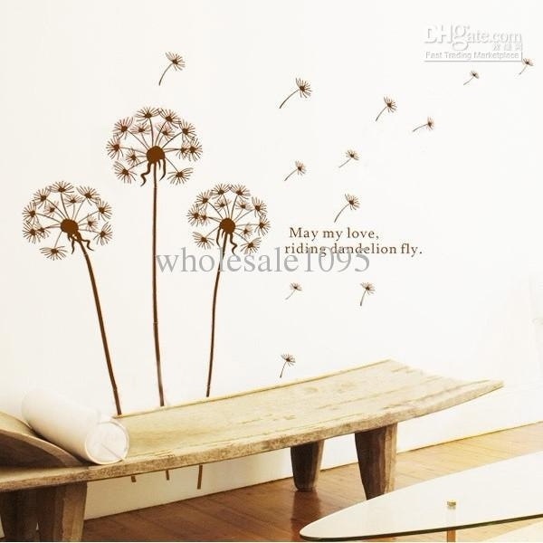 Removable Dandelion Decals Wall Mural Wall Art Wall Stickers Living For Wall Art Decals (Image 7 of 10)