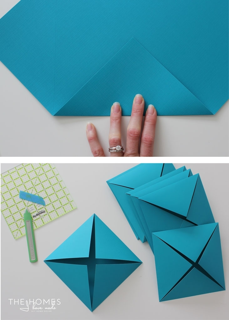Renter Friendly 3D Paper Wall Art With Paper Wall Art (View 17 of 25)