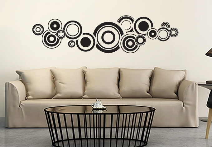 Retro Bubbles Wall Sticker – Fantastic Circle Vinyl Art With Circle Wall Art (View 2 of 25)