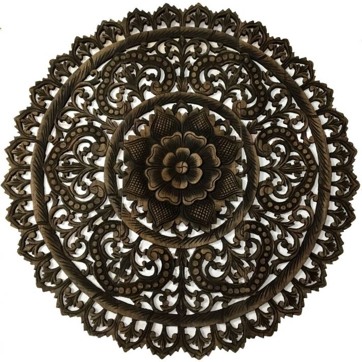 Round Medallion Wall Art Wooden Outdoor – Awesome Home Within Wood Medallion Wall Art (Image 6 of 25)
