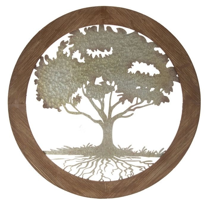 Round Wood & Metal Tree Wall Decor | Hobby Lobby | 1120393 | Want Throughout Hobby Lobby Metal Wall Art (View 16 of 25)