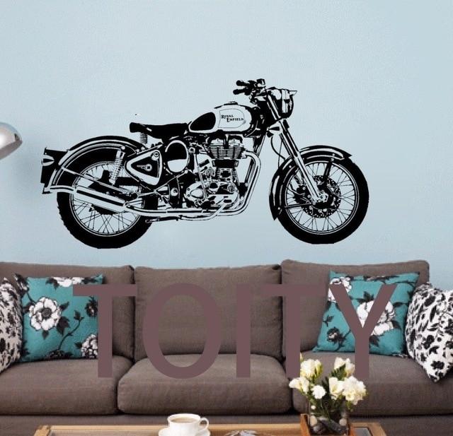 Royal Enfield Motorbike Wall Art Sticker Classic English Motorcycle In Motorcycle Wall Art (View 2 of 25)