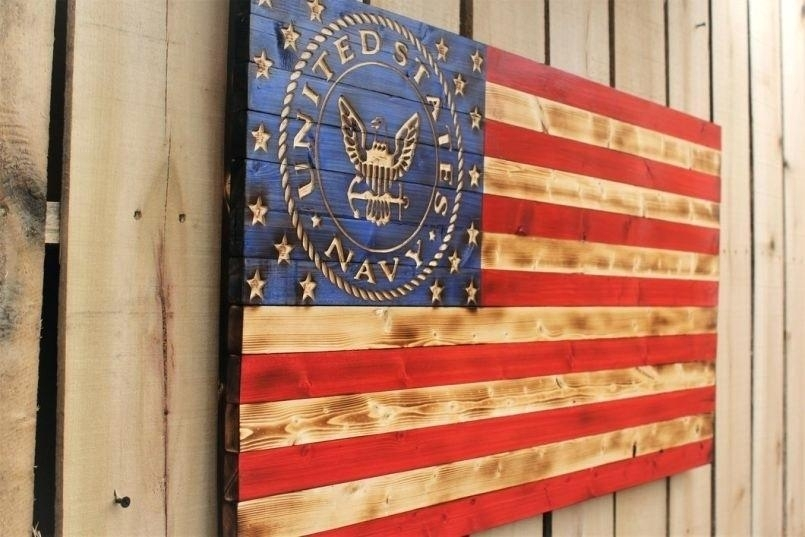 Rustic American Flag Wall Art Flag Wall Art Pottery Barn In Within Rustic American Flag Wall Art (View 13 of 25)