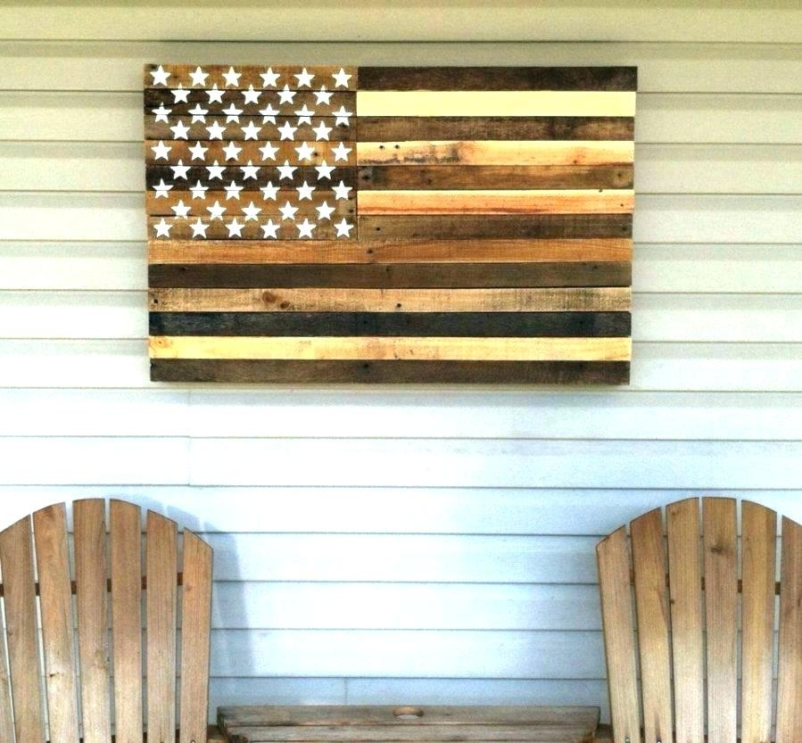 Rustic American Flag Wall Art Flag Wall Decor Wooden Cool Reclaimed With Regard To Rustic American Flag Wall Art (Image 18 of 25)