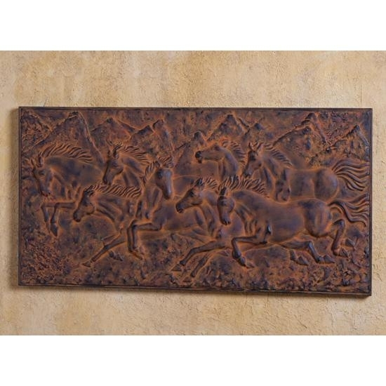 Rustic Bronze Horses Wall Art Intended For Horses Wall Art (Image 15 of 20)