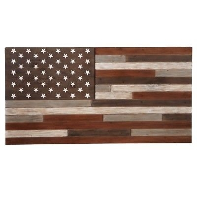 Rustic Reclaimed Barnwood Large American Flag Wall Art Country Decor For Rustic American Flag Wall Art (Image 20 of 25)