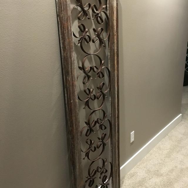 Rustic Wall Decor Metal Decor Metal Wall Art Decor Metal Flower Wall Pertaining To Vertical Metal Wall Art (View 7 of 25)
