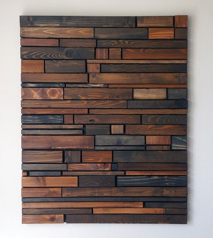 Rustic Wood Wall Art • Recous Inside Wood Art Wall (Image 10 of 20)