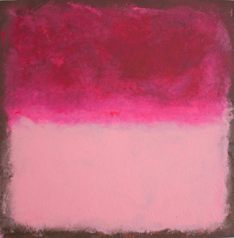 Saatchi Art: Fuchsia And Powder Pink Abstract Wall Art Painting Throughout Pink Wall Art (Image 24 of 25)