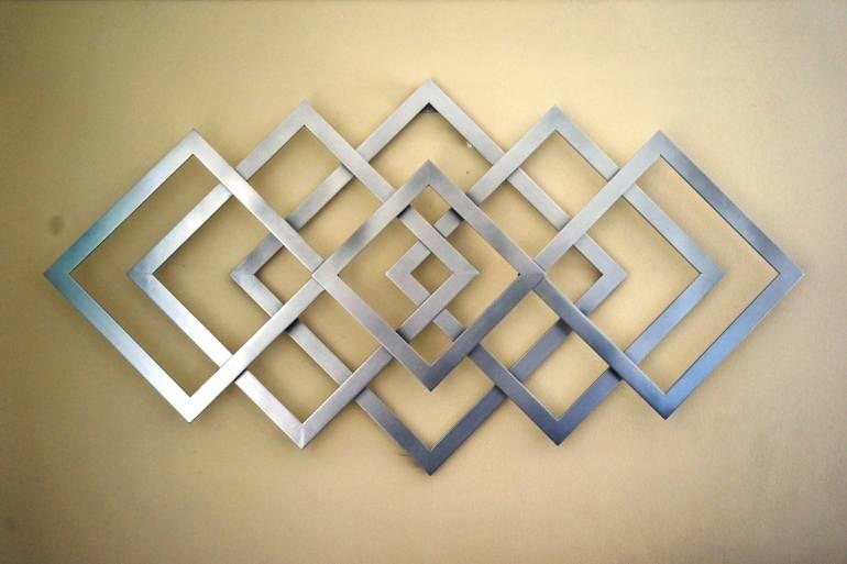 Saatchi Art: Geometric Metal Wall Art Sculpturealdo Milin inside Geometric Metal Wall Art
