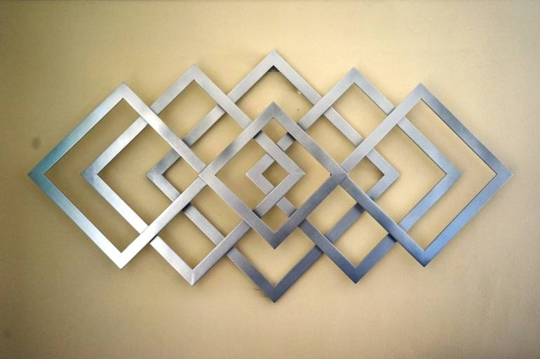Saatchi Art: Geometric Metal Wall Art Sculpturealdo Milin With Regard To Geometric Wall Art (View 12 of 20)