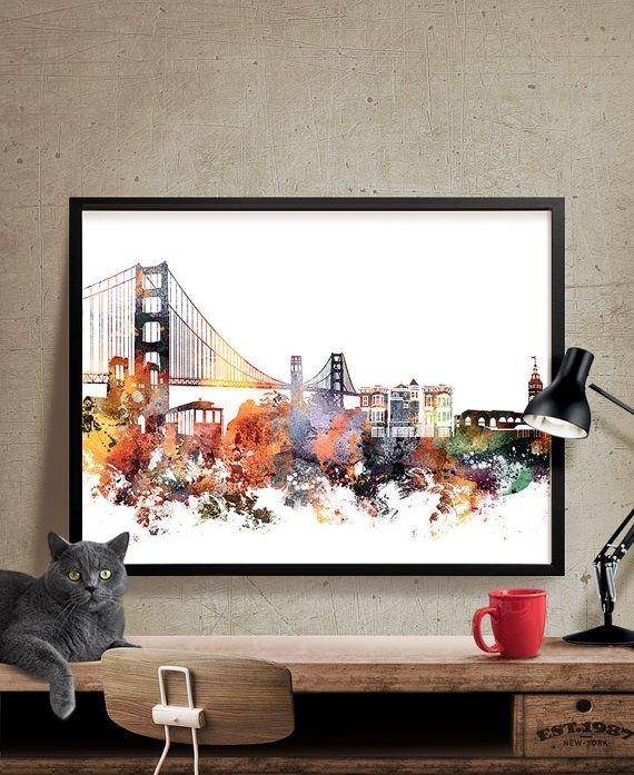 San Francisco Art San Francisco Wall Art Cityfineartcenter Inside San Francisco Wall Art (View 8 of 25)