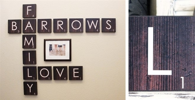 Scrabble Family Wall Art – Thrifty Jinxy Pertaining To Scrabble Wall Art (Image 11 of 25)