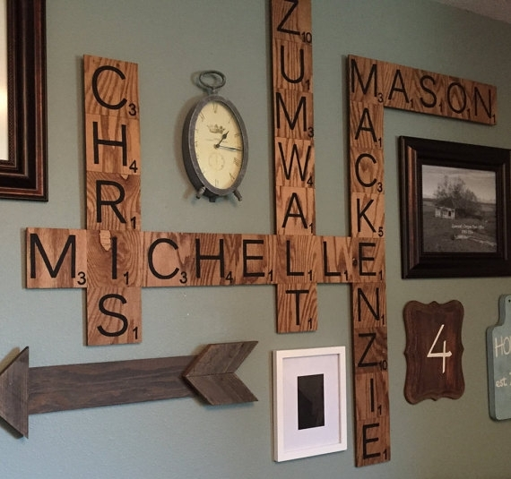 Scrabble Letter Wall Decor – Solid.graphikworks (Image 12 of 25)