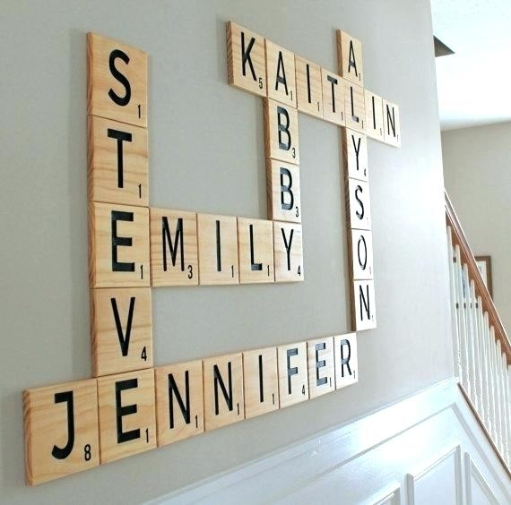 Scrabble Letters For Wall Scrabble Wall Art Scrabble Wall Letters With Regard To Scrabble Wall Art (Image 14 of 25)