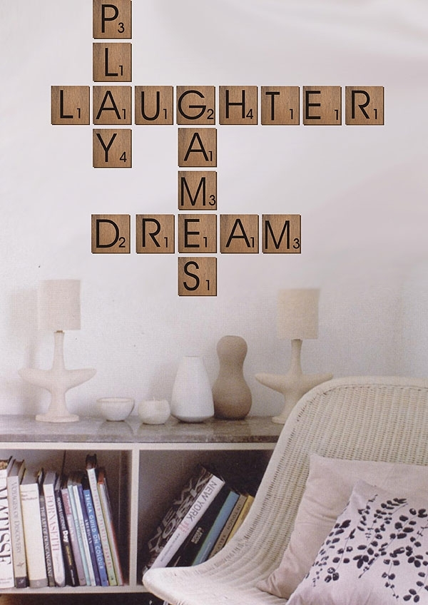 Scrabble Wall Art – Visi Regarding Scrabble Wall Art (Image 17 of 25)