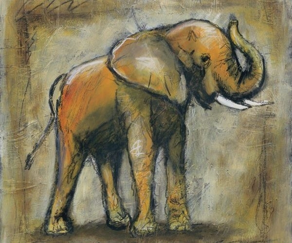 Scribble Elephant Canvas Wall Art – Canvas Art Wall Deacor Intended For Elephant Canvas Wall Art (View 20 of 20)