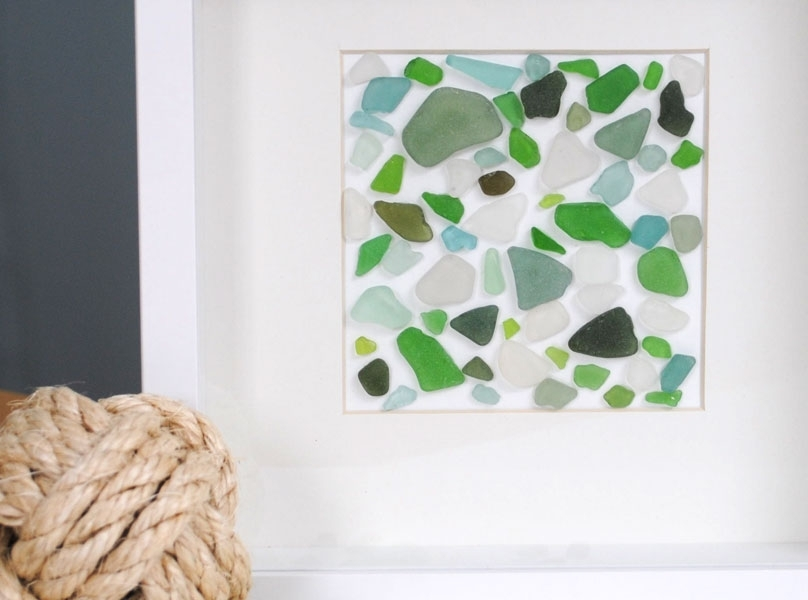 Sea Glass Wall Art Pertaining To Sea Glass Wall Art (Image 7 of 10)