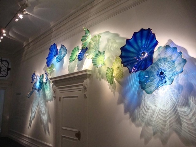 Sea Style Crystal Blue Color Spa Wall Decor Chihuly Art Blown Glass Pertaining To Blown Glass Wall Art (View 8 of 25)