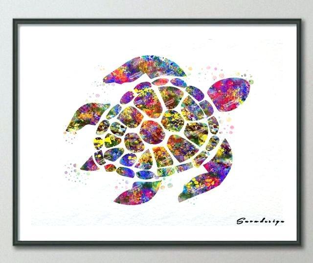 Sea Turtle Wall Art – Dstreetnoshery Inside Sea Turtle Canvas Wall Art (View 18 of 25)