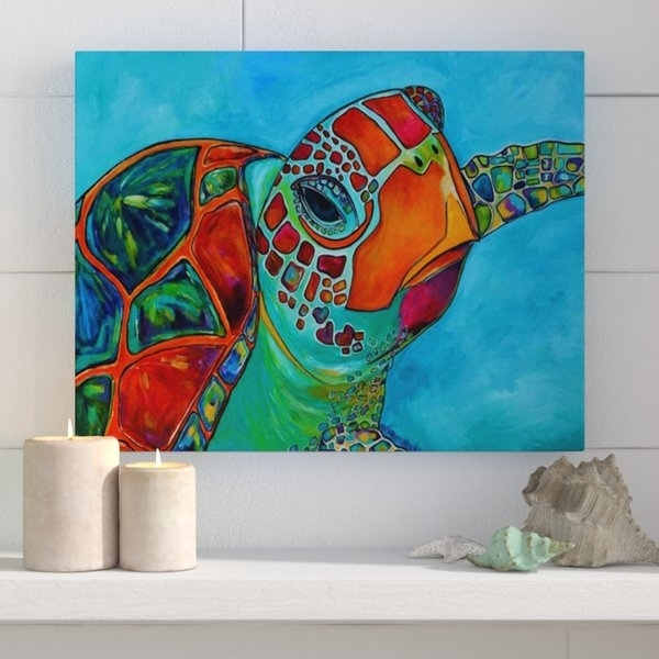 Sea Turtle Wall Art | Wayfair Pertaining To Sea Turtle Canvas Wall Art (View 24 of 25)