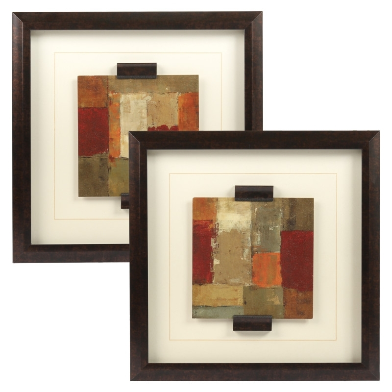 Set Of 2 Framed Wall Art Prints – Abstract Painting Home Décor With Set Of 2 Framed Wall Art (View 12 of 25)