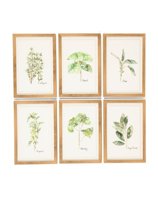 Set Of 6 Herb Series Wall Art | Kate's Bedroom | Pinterest | Herbs Inside Herb Wall Art (Image 18 of 20)